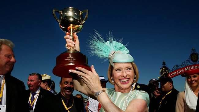 cup- winning horses trainer with the cup