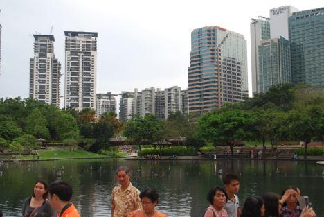 Park outside the Petronas Towers