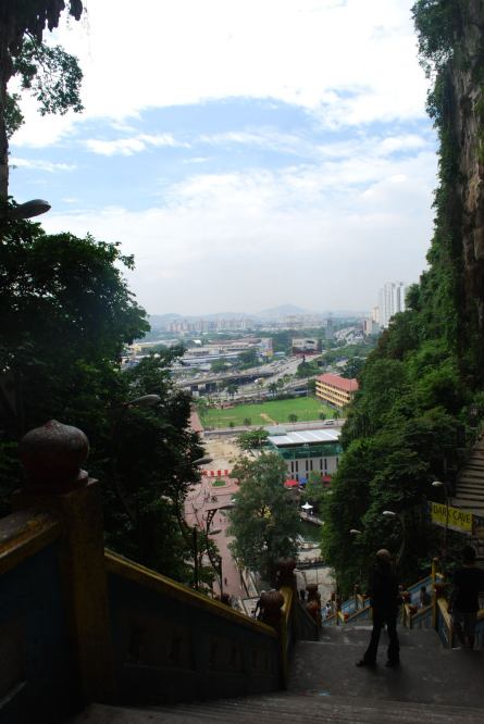 View from the top of the Batu Caves