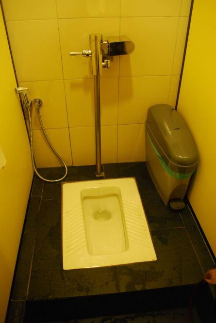a squat... bathrooms in Malaysia