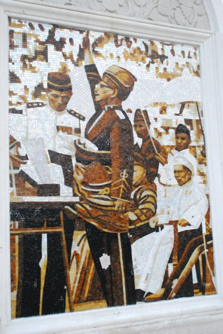 Glass mosaic of the day when Malaysia become independent