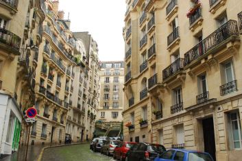 Beautiful, classic streets of Montmartre, near my hostel